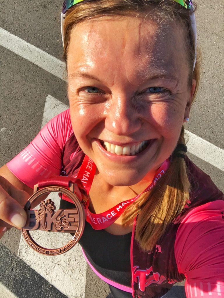 Zweite Medaille für 90km Rad