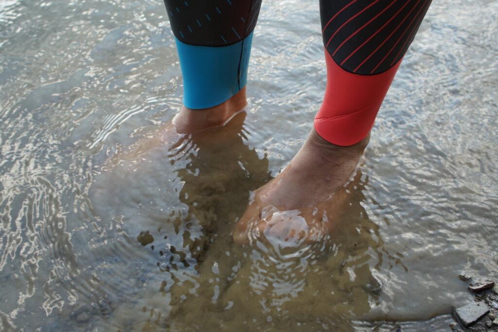 Schwimmen an der Aggertalsperre im Neo